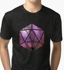 Purple trees d20 Tri-blend T-Shirt