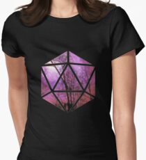 Purple trees d20 Women's Fitted T-Shirt