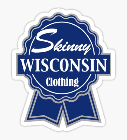 Wisconsin Skinny Blue Badge of Honor Sticker