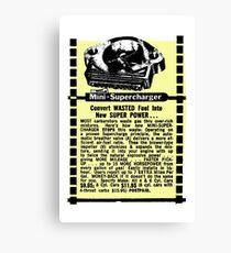 Mini Supercharger advert. Canvas Print