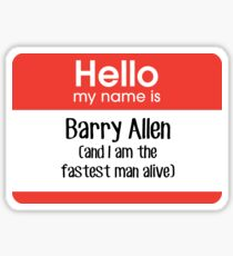 My name is Barry Allen... Sticker