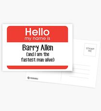 My name is Barry Allen... Postcards