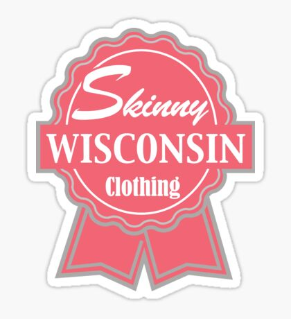 Wisconsin Skinny Pink Badge of Honor Sticker