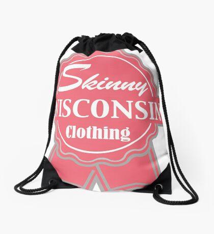 Wisconsin Skinny Pink Badge of Honor Drawstring Bag