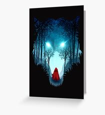 Big Bad Wolf (dark version) Greeting Card