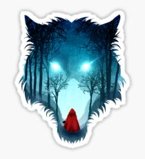 Big Bad Wolf (dark version) Sticker