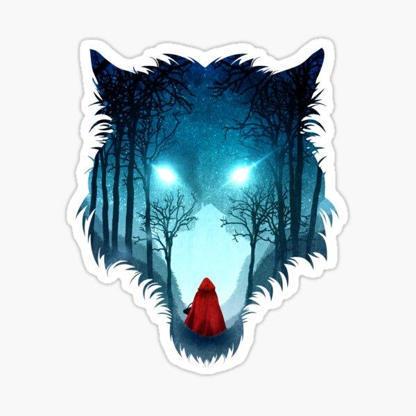 "Big Bad Wolf pair Decal 10/"" x 8/"""