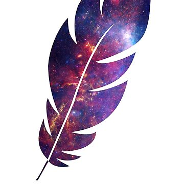 The Galaxy in a Feather by amillear