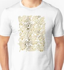 Gold Olive Branches Unisex T-Shirt