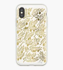 Gold Olive Branches iPhone Case