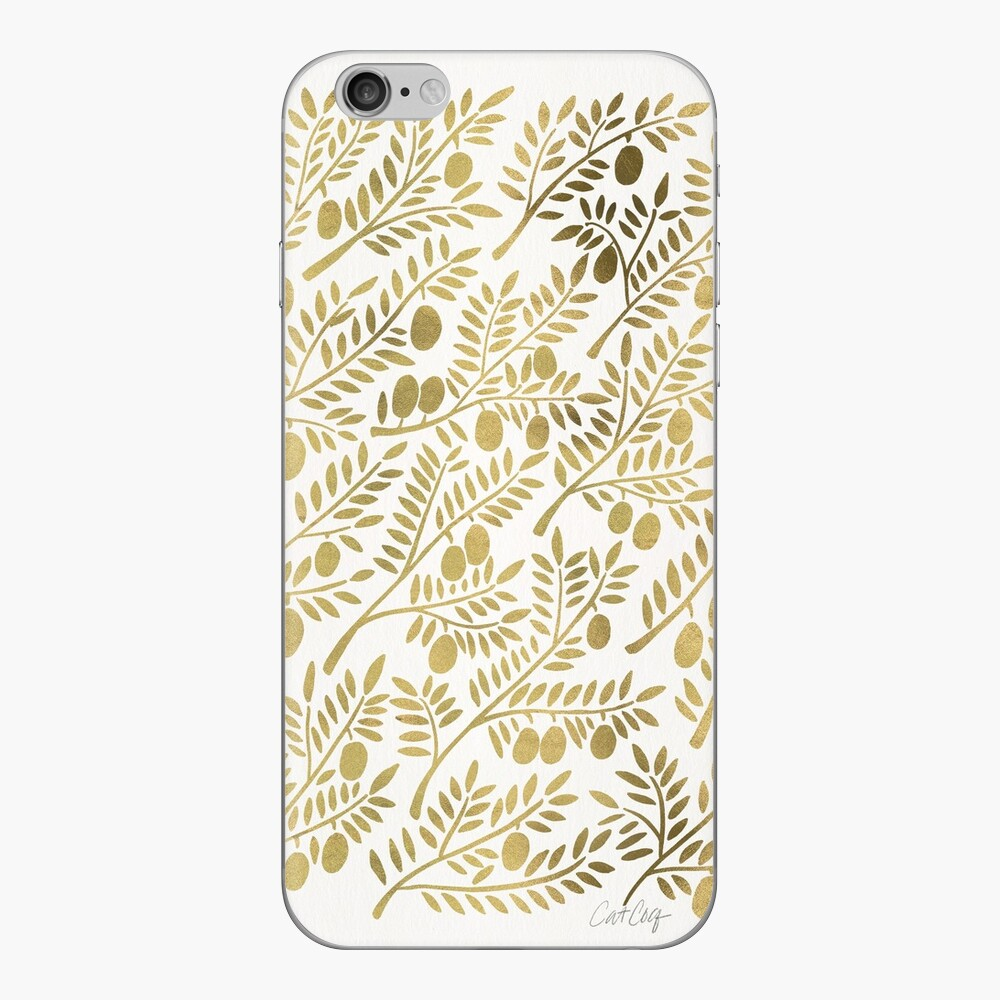 Gold Olive Branches iPhone Cases & Covers
