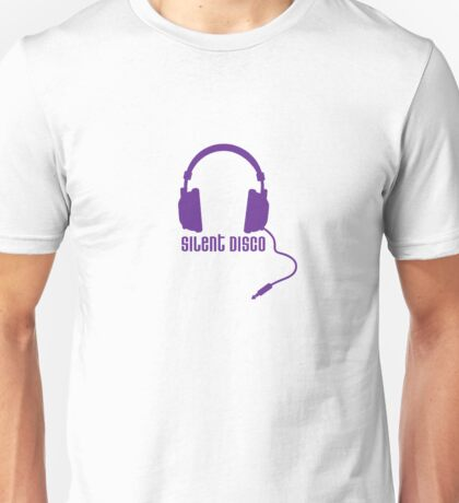 Silent Disco in Purple Unisex T-Shirt