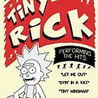 Tiny Rick Concert Poster by b00mskit