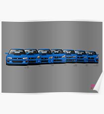 Subaru WRX STi generations - Poster V2 Poster