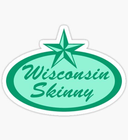 Wisconsin Skinny Logo Green Sticker
