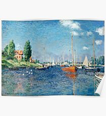 Claude Monet - Red Boats, Argenteuil (1875)  Poster