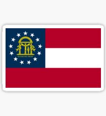 Georgia-Flagge Sticker