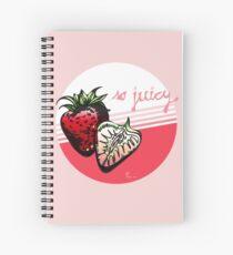 so juicy! - fresh strawberries Spiral Notebook