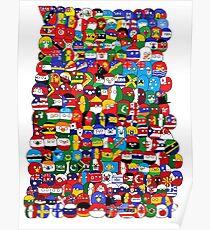 Polandball Map Of The World 2017.Polandball Posters Redbubble