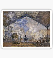 Claude Monet - The Saint Lazare Station (1877)  Sticker