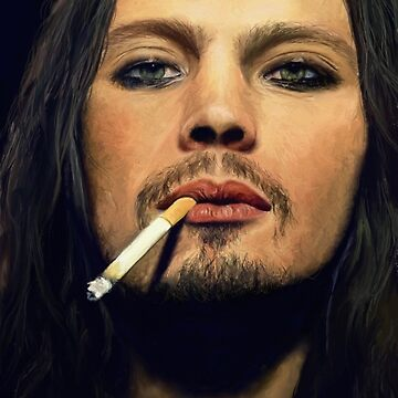 Ville Valo drawing by PsychoLunatic