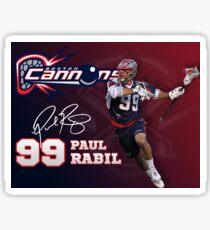 Paul Rabil Lacrosse Boston Cannons Poster Sticker