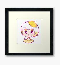Eggy Hair Framed Print