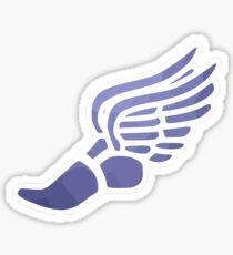 Lila Ombre Track Schuh Sticker