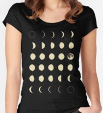 Moon Phases Women's Fitted Scoop T-Shirt
