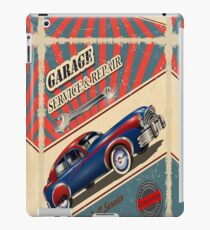 Vintage Garage Logo iPad Case/Skin