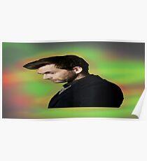 """David Tennant """"hippie"""" background Poster"""