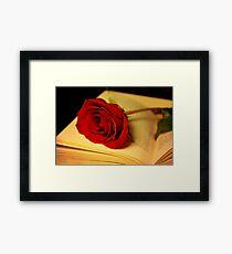 Romance in Literature Framed Print