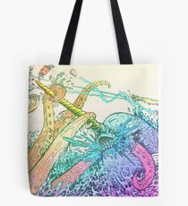 NARWHAL VS GIANT SQUID Tote Bag