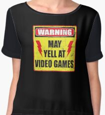 Gamer Warning Women's Chiffon Top
