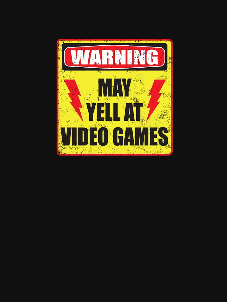 Quot Gamer Warning Quot T Shirt By Buzatron Redbubble