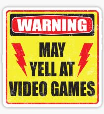 Gamer Warning Sticker