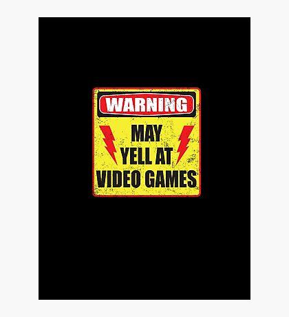 Gamer Warning Photographic Print