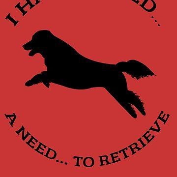 Need to retrieve flat coated retriever shirt by zcore101