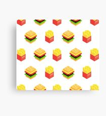 Burger x Fries Canvas Print