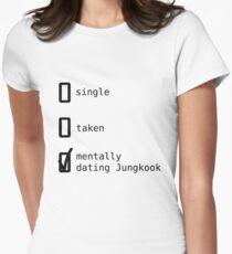 BTS - Mentally Dating Jungkook T-shirt col V femme