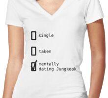 BTS - Mentally Dating Jungkook T-shirt femme moulant col V