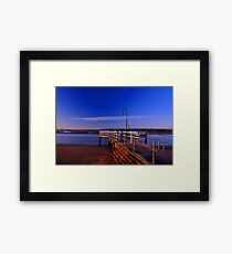Baxters Jetty, Shorncliffe at first light. Brisbane, Queensland, Australia. (2) Framed Print
