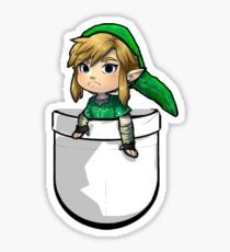 Pocket Link Hero of Time Zelda Sticker