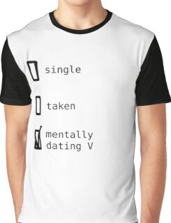 BTS - Mentally Dating V T-shirt Graphique