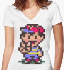 Ness - Earthbound Women's Fitted V-Neck T-Shirt