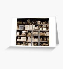 Some Shelves are Bowed Greeting Card
