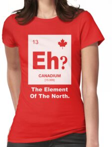 Eh? Canadian Element of Canada Womens Fitted T-Shirt