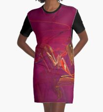 Glitzy Graffiti Graphic T-Shirt Dress