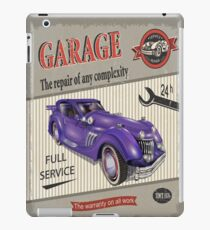 Vintage Garage Logo 2 iPad Case/Skin