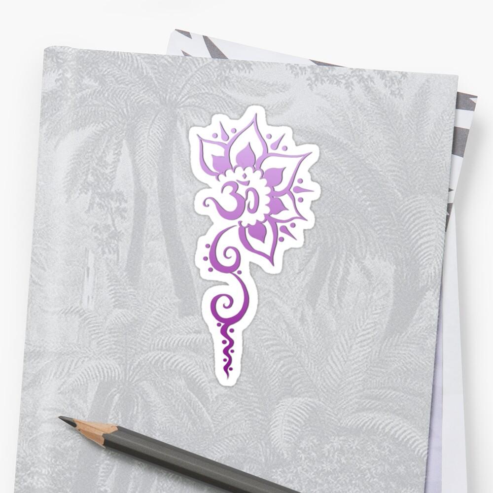 Rising Om - Purple Fade by ArtByDrax